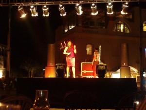 Varje kväll är det show i någon del av El Gouna